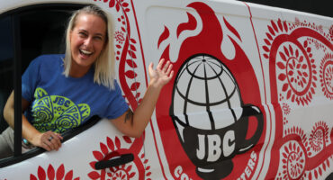 JBC Coffee Roasters Van was Wrapped by Madison Graphics Company